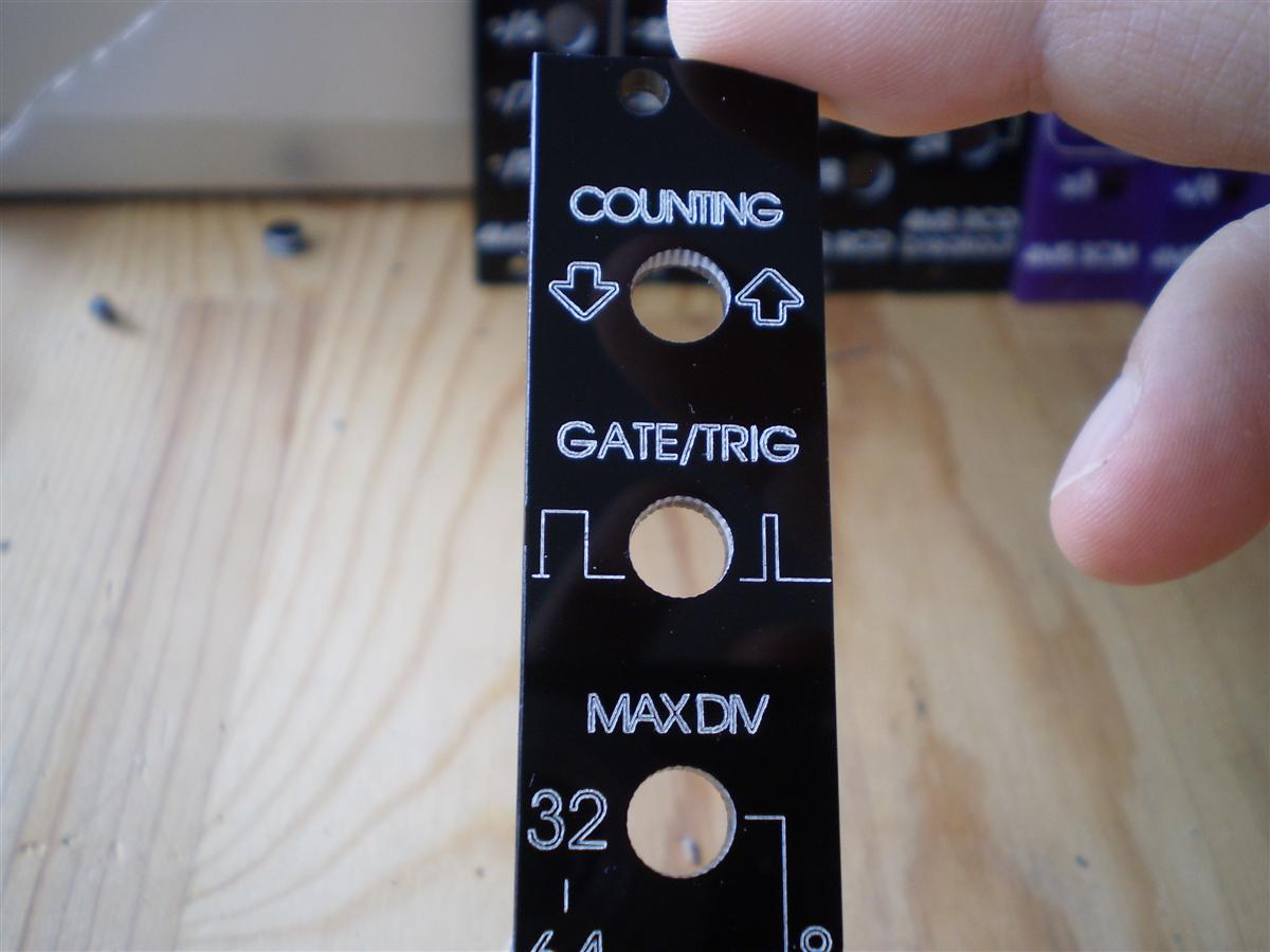 modular front panels for eurorack, by glitched ([d